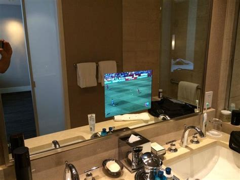 tv for bathrooms reviews bathroom with tv in the mirror picture of trump