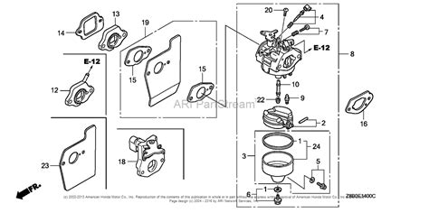 honda engines gcvla sa engine usa vin gjaea   gjaea  parts diagram