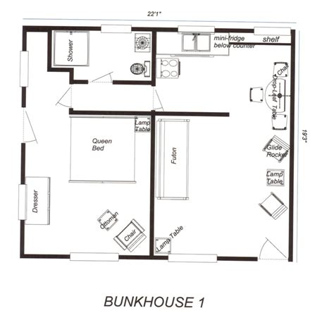 bunkhouse floor plans tiny cabin bunkhouse studio design gallery best design