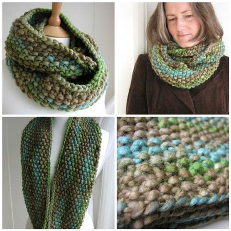 knitting pattern scarf circular needle hand knitted things indie circular scarf instructions