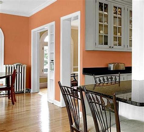kitchen wall color peach walls gray cabinets diy pinterest paint