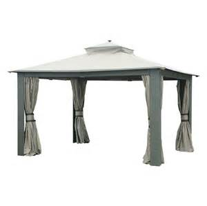 Allen Roth Metal Top Gazebo by Allen Roth 12 Ft X 10 Ft Rectangular Wicker Gazebo