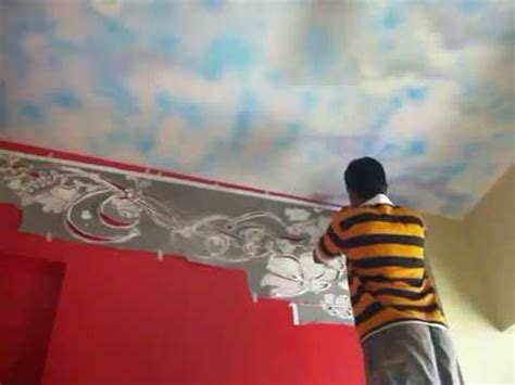 Bedroom Paints Designs Hyderabad Wall Painting Stencils Fabulous Wall Stencils Stencil Designs Youtube
