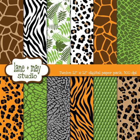 printable jungle paper jungle animals pictures to print