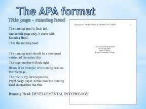 Running Is My Essay by The Apa Format Title Page Ppt
