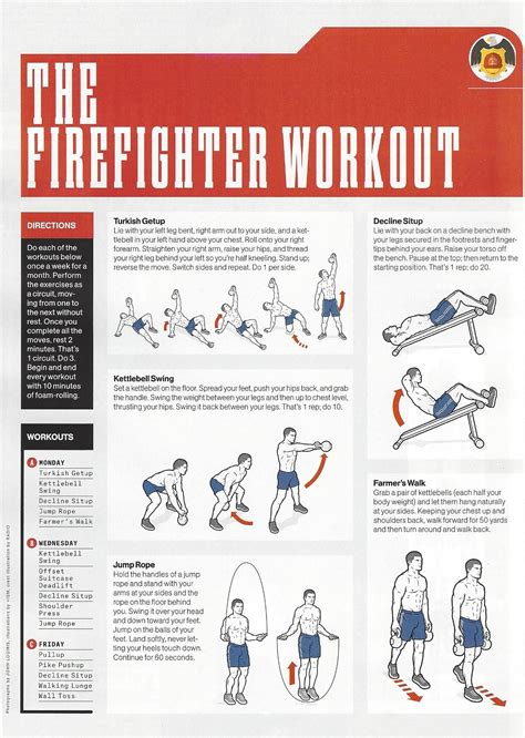 atmenshealthmag  firefighter workout health