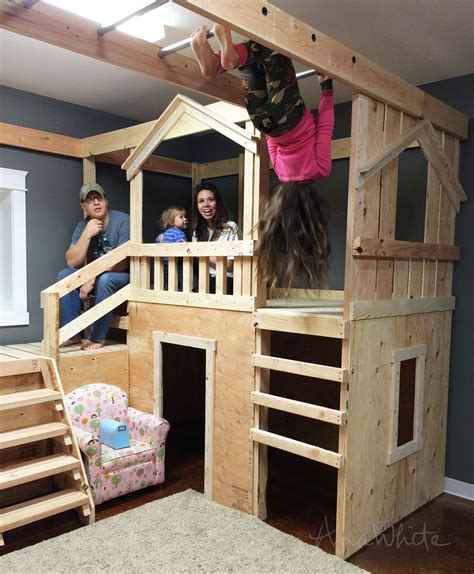 diy basement diy basement indoor playground with monkey bars knock