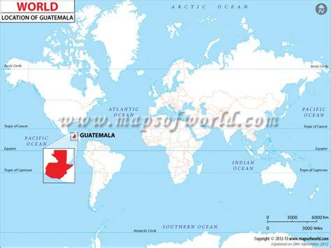 guatemala on world map where is guatemala location of guatemala