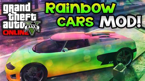 rainbow cars gta 5 pc mods rainbow cars mod gta 5 color changing