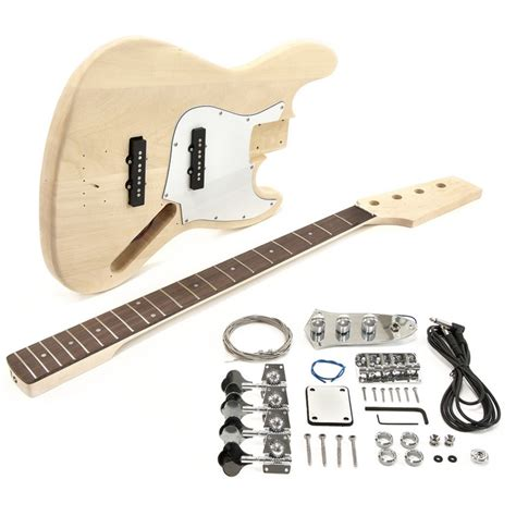 diy bass guitar kit la j electric bass guitar diy kit at gear4music
