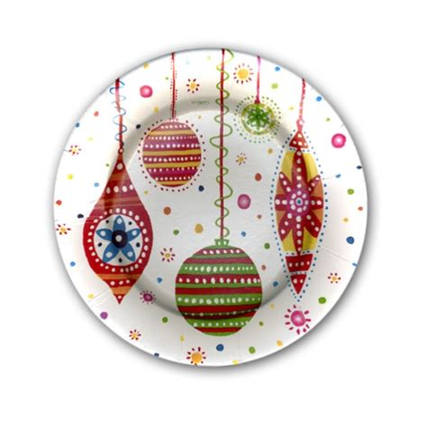 christmas bright lights dessert plates paperstyle
