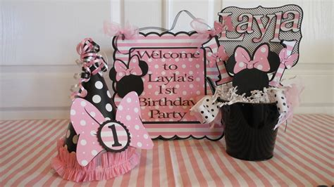 1st Birthday Decorations Minnie Mouse by Minnie Mouse Polka Dot 1st Birthday By Asweetcelebration