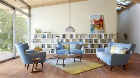 Living Room With No Sofa How To Decorate Your Living Room With A Modern Blue Fabric Sofa La Furniture