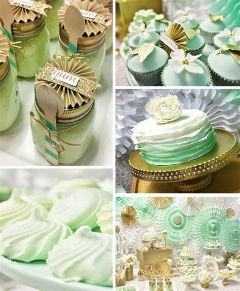 Mint Decorations kara s ideas mint and gold with lots of really ideas via kara s ideas