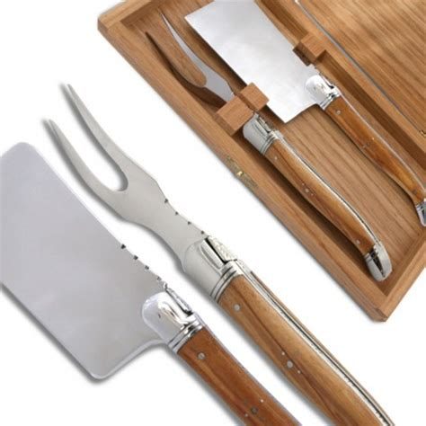 wood handle knife set laguiole cheese knife set with olive wood handle made in