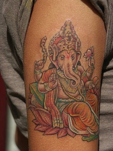 ganesha head tattoo meaning indian ganesha coloured tattoo tattooimages biz