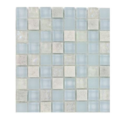 splashback tile mist trail blend marble glass mosaic floor