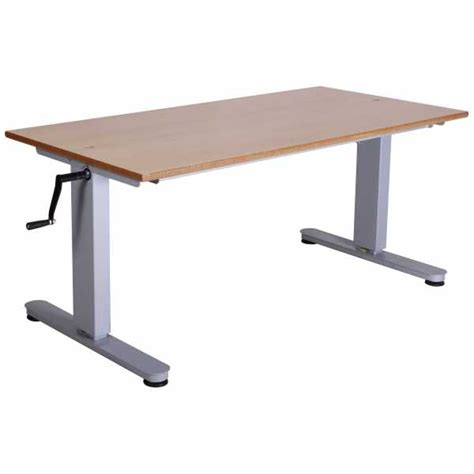height adjustable tables with crank handle