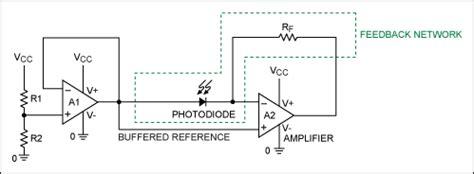 pin diode transimpedance lifier transimpedanzverst 228 rker bias offset vcc 2 oszillation mikrocontroller net