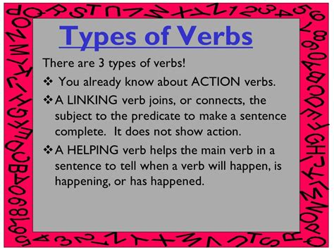 linking and helping verbs ppt