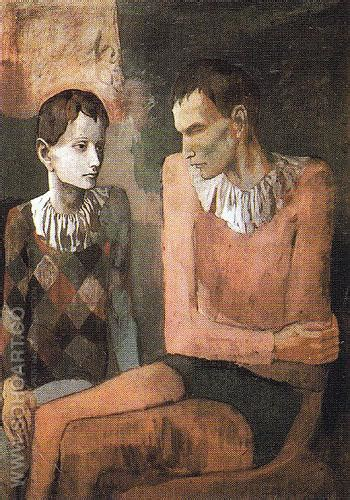 picasso paintings pink period pablo picasso acrobat and harlequin 1905