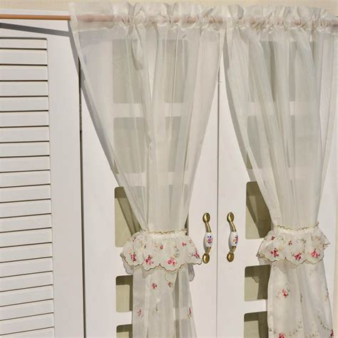 tiered curtains rose tiered curtain
