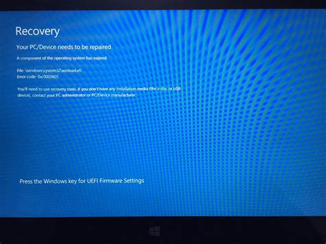 windows your pc device needs to be repaired with error code 0xc0000605 user