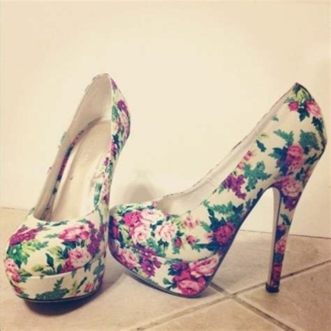 flower print high heels shoes floral heels high heels flowers flower high