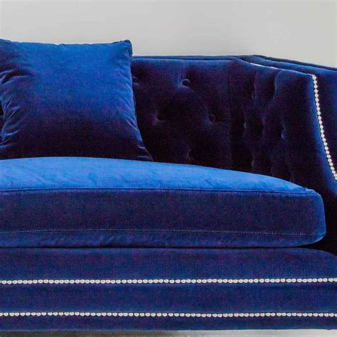blue velvet tufted sofa blue velvet sleeper sofa 187 china blue velvet gondola