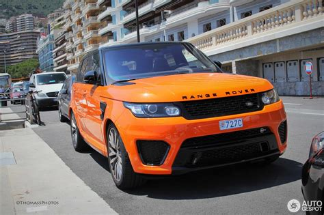 orange range rover svr land rover range rover sport svr 1 july 2015 autogespot
