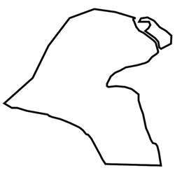 kuwait vector map   download at vectorportal