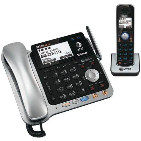 At T Home Phones by At T Dect 6 0 2 Line Corded Cordless Bluetooth Phone