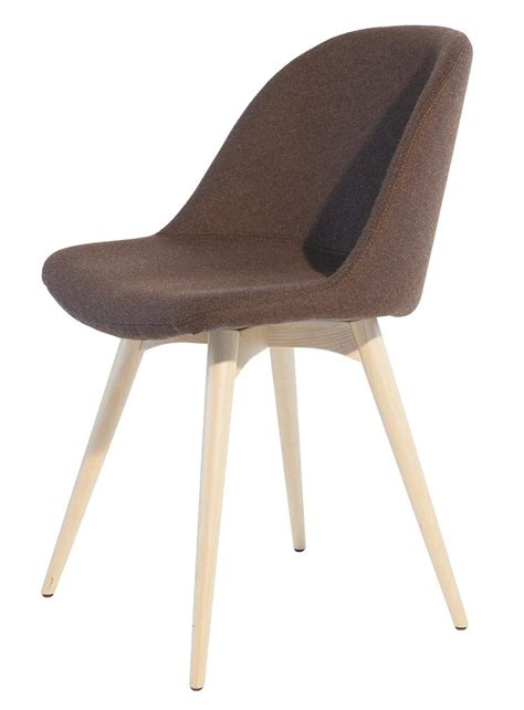 Sonny chair by midj with steel or wood structure covered in leather or fabric eco leather