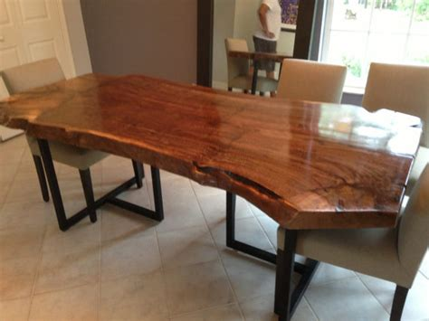 wood slab kitchen table live edge dining table walnut slab table wood slab table