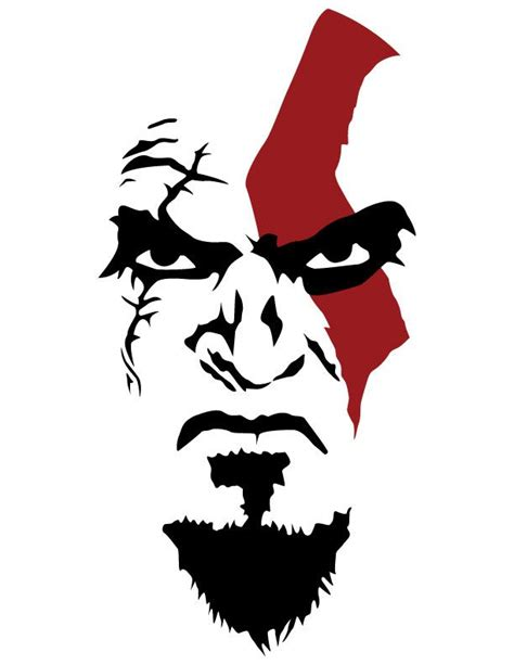 kratos stencil t shirt ideas pinterest stencils