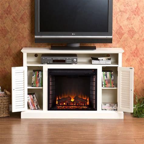 White Wood Electric Fireplace by Shop Boston Loft Furnishings 48 In W 4700 Btu Antique