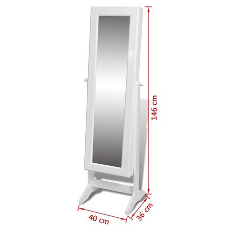 free standing jewellery free standing mirror jewellery cabinet wardrobe white