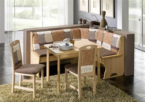 kitchen nook solid wood corner dining breakfast set table