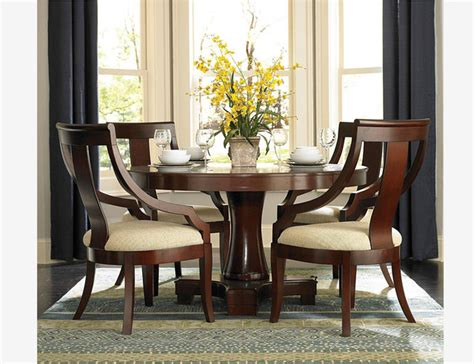5 pc traditional cherry wood dining set table chairs