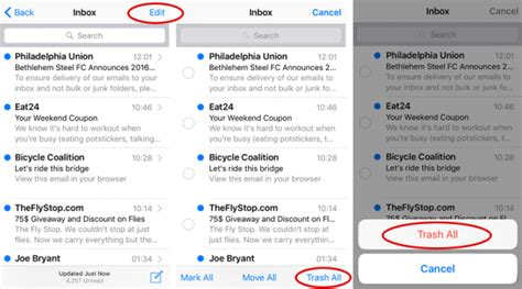 how to delete all emails from mail in fast secure ways to delete emails on ios 12