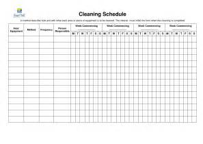 commercial kitchen cleaning schedule template 8 best images of restroom cleaning schedule printable