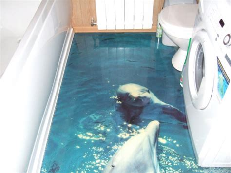 bathroom floor illusions photorealistic 3d illusion flooring by imperial interiors