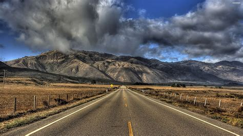 wallpaper 4k road long road to the mountain wallpaper
