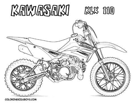 Coloring Pages Of Dirt Bikes fierce rider dirt bike coloring dirtbikes free