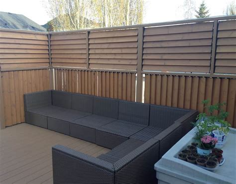 louvered privacy deck railing flex fence louver system