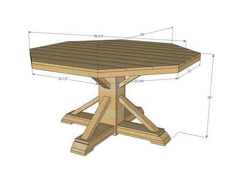 octagon table plans white build a benchmark octagon table free and