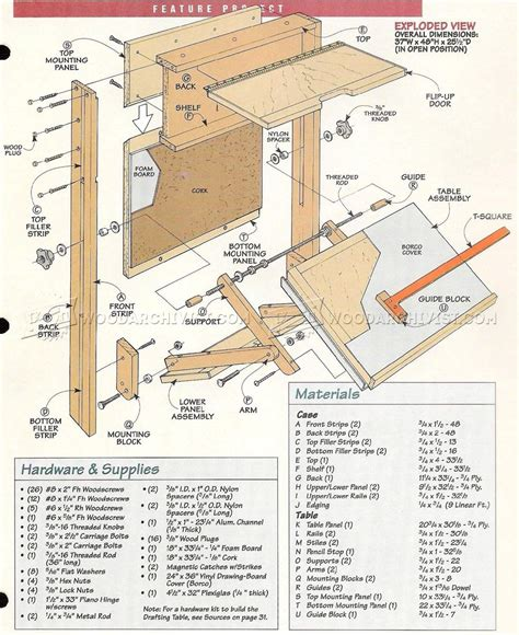 Drafting Table Blueprints Fold Drafting Table Plans Woodarchivist