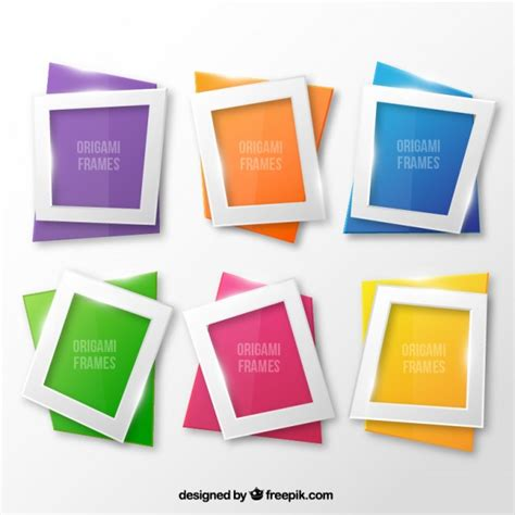 Origami Photo Frames - origami frames vector free