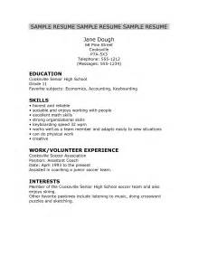 Resume Template For High School Senior by Best Photos Of High School Senior Resume Sle High