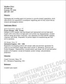 Career Objective For Mechanical Engineer Resume Mechanical Engineer Resume Template Engineer Services Cv